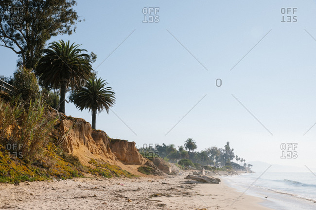 Sunny day at Butterfly Beach in Montecito, California