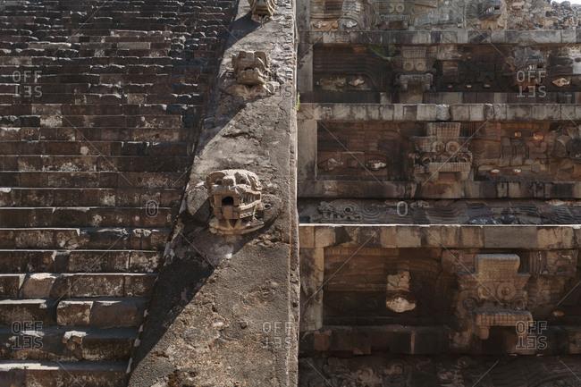 Detail of Teotihuacan ruins in San Juan Teotihuacan, Mexico