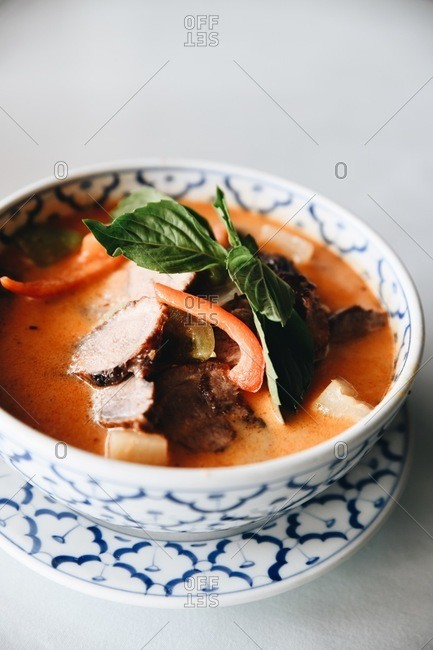 Bowl of delicious Asian soup