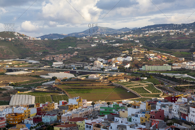 Landscape of santa maria de guia the island of gran canaria