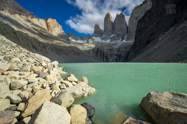 Las Torres viewpoint, Torres del paine national park, Patagonia, chile