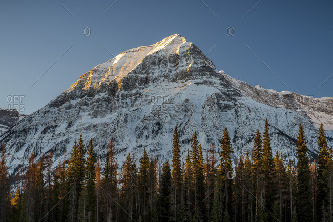 Gerdanine peak standing tall over athabasca river