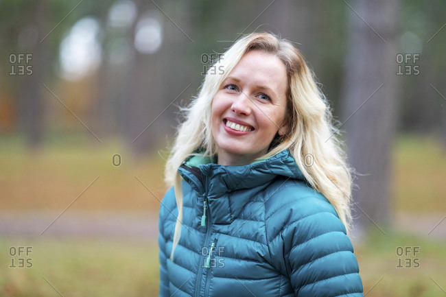 Smiling woman at Cannock Chase