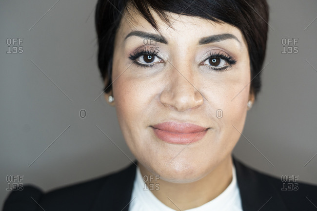 Portrait of businesswoman smiling at camera