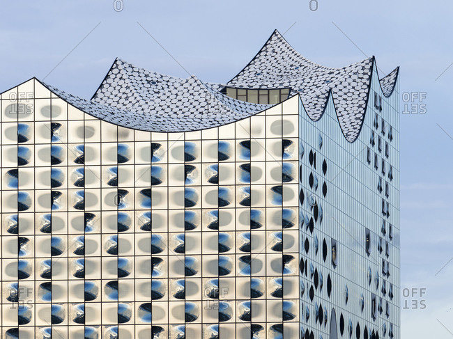 November 15, 2020:  - November 15, 2020: Germany- Hamburg- Shiny exterior of Elbphilharmonie