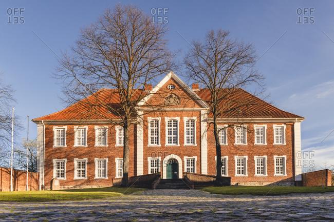 November 15, 2020:  - November 15, 2020: Germany- Schleswig-Holstein- Ratzeburg- Facade of Kreismuseum Herzogtum Lauenburg museum in autumn