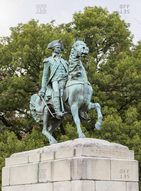 June 8, 2018:  - June 8, 2018: USA- Washington DC- Equestrian statue of George Washington at Washington Circle