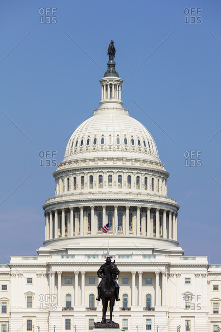 June 9, 2018:  - June 9, 2018: USA- Washington DC- United States Capitol and Ulysses S. Grant Memorial