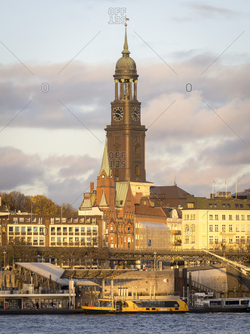 November 20, 2020:  - November 20, 2020: Germany- Hamburg- Bell tower of Saint Michaels Church rising above surrounding buildings