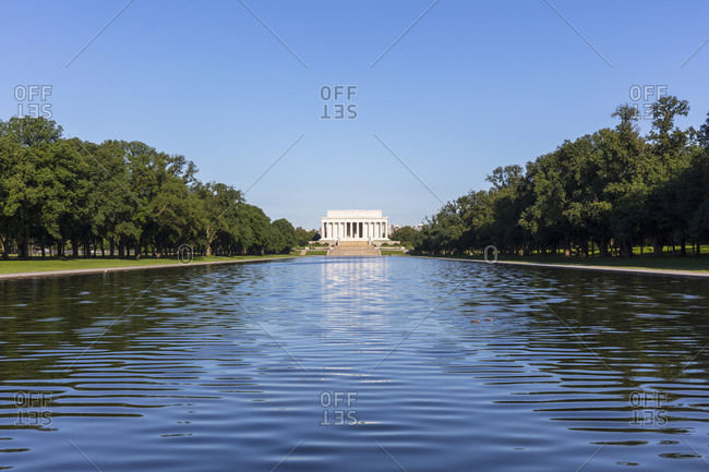 June 6, 2018:  - June 6, 2018: USA- Washington DC- Lincoln Memorial Reflecting Pool with Lincoln Memorial in background