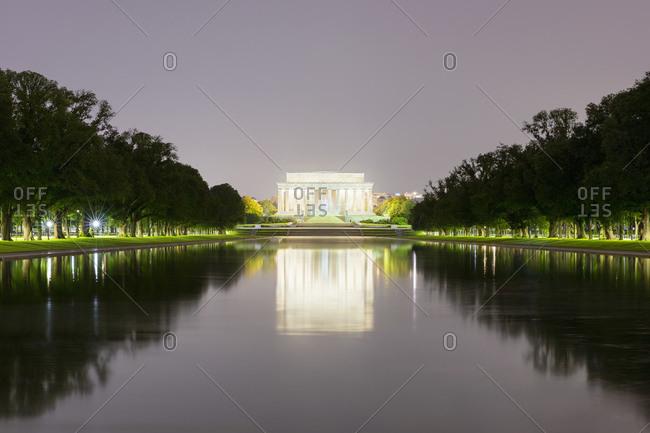 June 8, 2018:  - June 8, 2018: USA- Washington DC- Lincoln Memorial reflecting in Lincoln Memorial Reflecting Pool at night