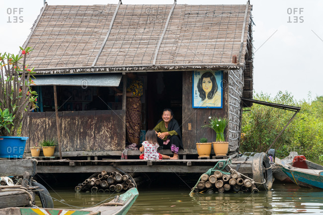 Kompong Luong Floating Village, Krakor District, Cambodia - 15 April 2012: Beauty Salon In Typical House In Cambodian Floating Village.