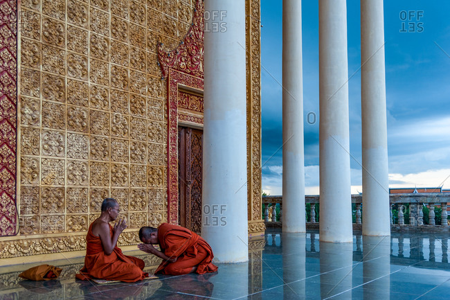 Monks, Vipassana Centre, Udong, Cambodia - 15 July 2012: Monks Share Their Weekly Confessions.