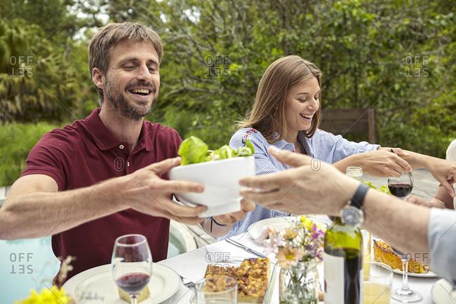 Happy Happy Family having meal