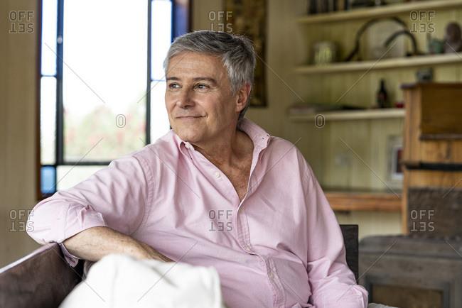 Thoughtful senior man by himself