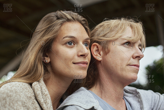 Thoughtful woman with her mother in law