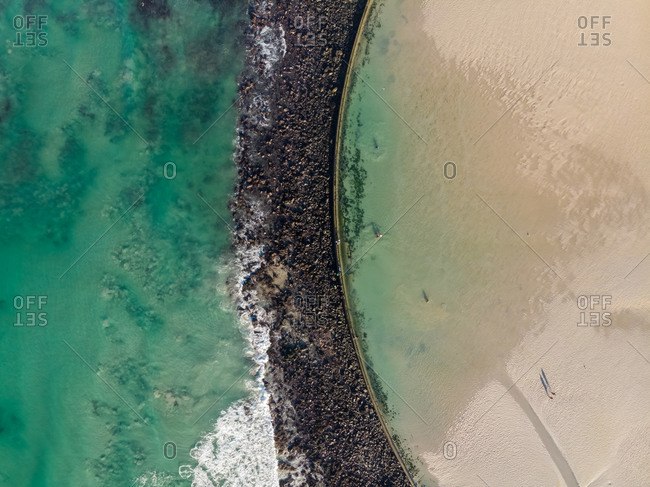 Aerial view of Strandfontein tidal pool, Cape Town, South Africa