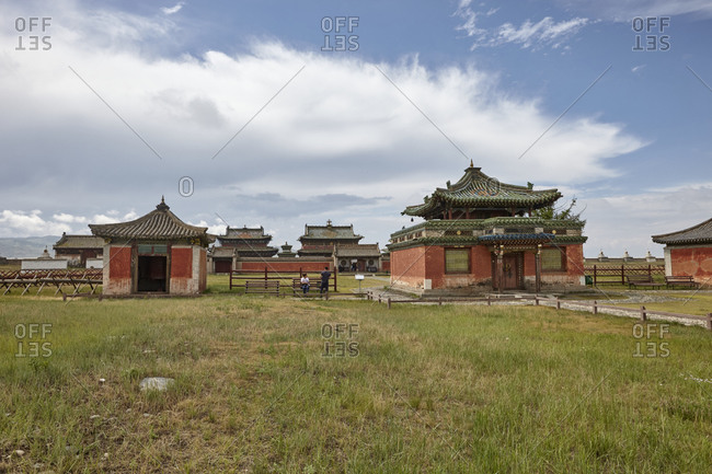 The well preserved buildings of the Erdene Zuu Monastery, close to ancient city of Kharkhorin in Mongolia