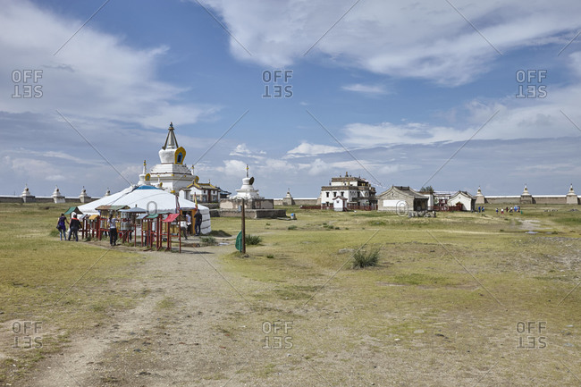 The city wall and part of the buildings of the Erdene Zuu Monastery, close to ancient city of Kharkhorin in Mongolia