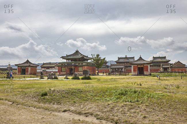 Well preserved temples and other buildings of the Erdene Zuu Monastery, close to ancient city of Kharkhorin in Mongolia