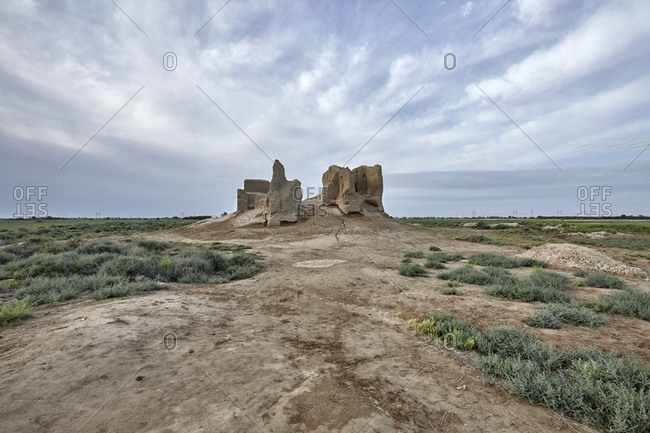 The little Kyz Kala, a part of Sultan Kala in the ancient Merv, Turkmenistan
