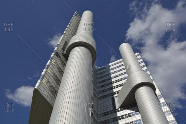 July 14, 2020: Germany- Bavaria- Munich- HVB Tower skyscraper