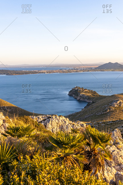 Alcudia Bay at dusk time