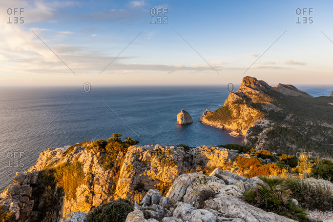 Cap de Formentor headland at dusk