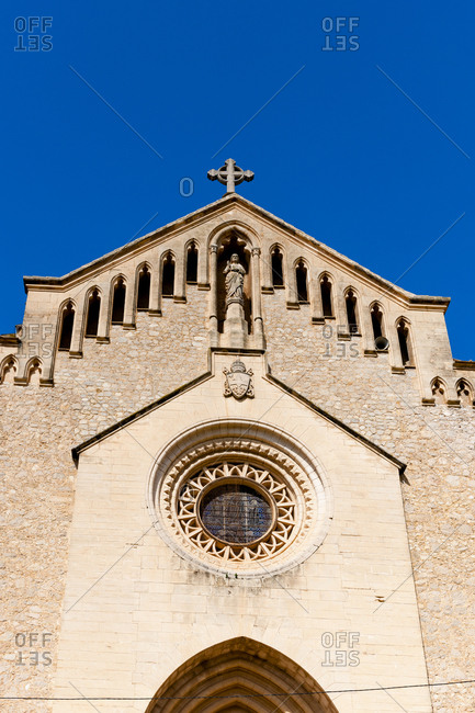 Spain- Mallorca- Arta- Facade of old church