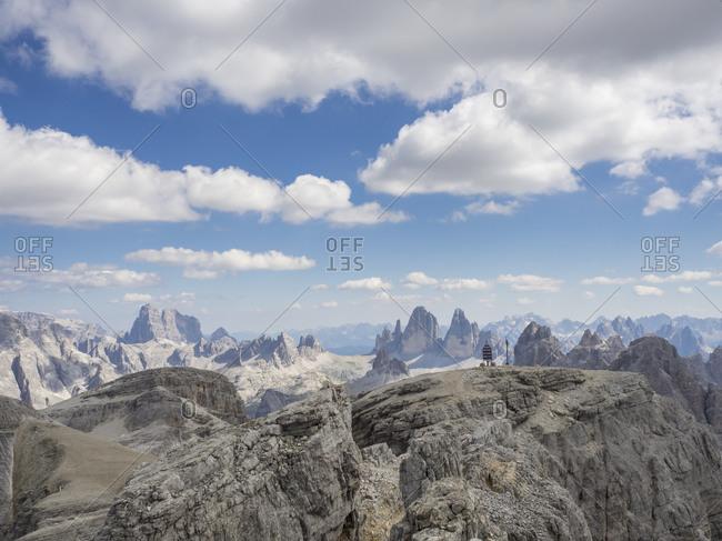 Scenic view of clouds over Tre Cime di Lavaredo