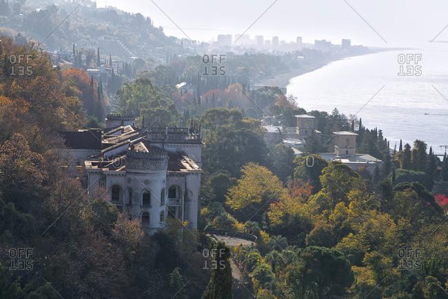 Georgia- Abkhazia- Gagra- Coastal town in autumn