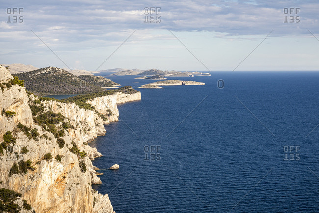 Cliffs and sea overlooking views