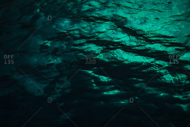 Turquoise sea surface detailed shot