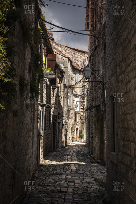 Narrow alley in old town