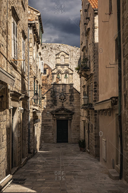 Croatia- Dubrovnik- Narrow alley in old town