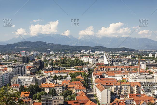 July 5, 2020: Slovenia- Ljubljana- View of city