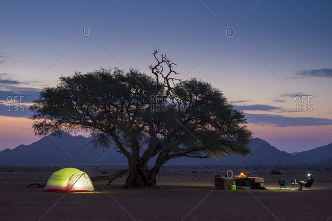 Camped on the edge of the Namib desert at the Namtib Desert Lodge in Namibia