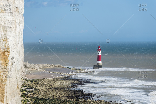 The lighthouse at Beachy Head on the south coast of Britain
