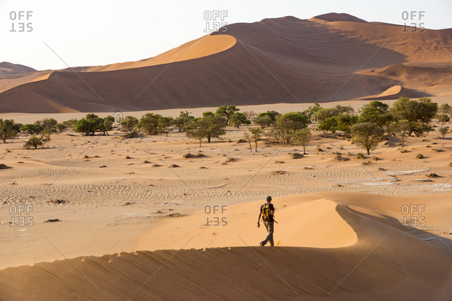 Exploring the Namib desert dunes near Sossusvlei and Deadlei in Namibia