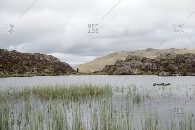 Blackbeck Tarn near the top of Haystacks above Butteremere in the English Lake District