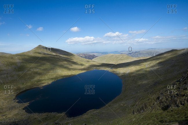 Red Tarn below Striding edge in the Lake District of England