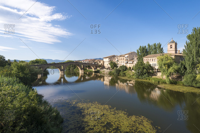 The bridge at Puente la Reina which is along  the Camino de Santiago trekking route also called The Way