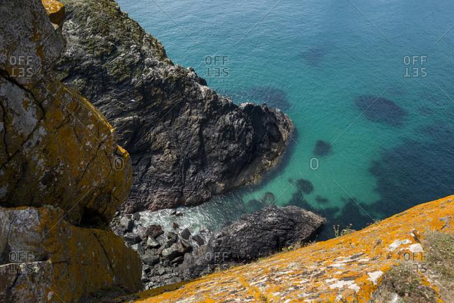 Kynance Cove on the Lizard Peninsula in Cornwall in the UK