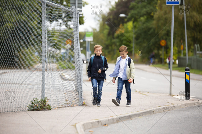 Boys walking together - Offset Collection