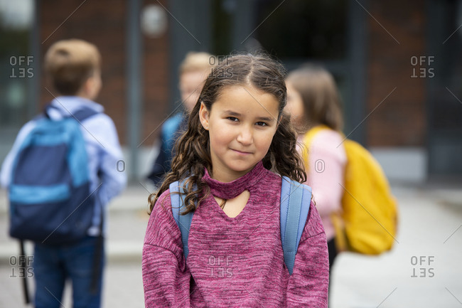 Girl looking at camera - Offset Collection