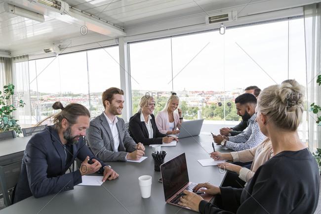 People at business meeting in boardroom
