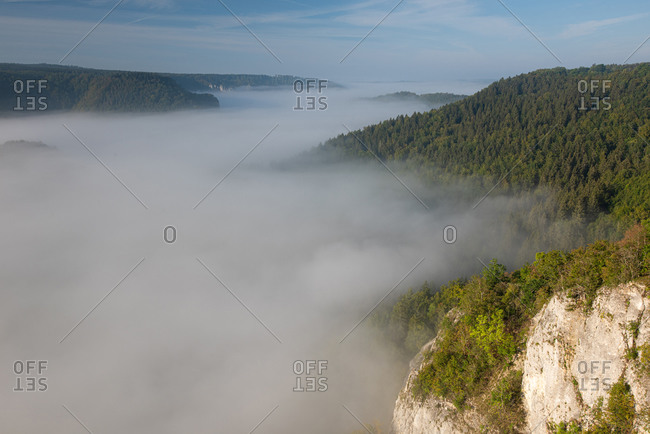 Cloudscape over Danube Valley at Beuron- Swabian Alb- Germany