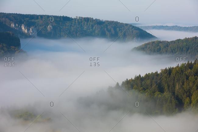 Beautiful view of Danube Valley at Beuron- Swabian Alb- Germany