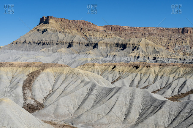 Caineville badlands formations, Caineville, Utah, USA