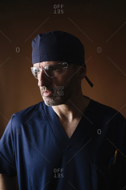 Portrait of a middle-aged male doctor
